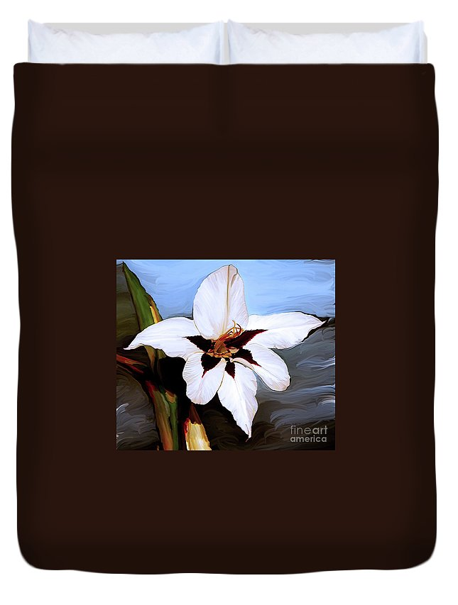 Fine Art Print Duvet Cover featuring the painting Lily I by Patricia Griffin Brett