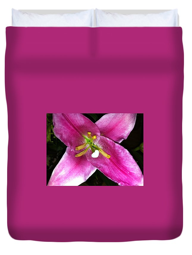 Flower Duvet Cover featuring the photograph Lily by Kimberly Mohlenhoff