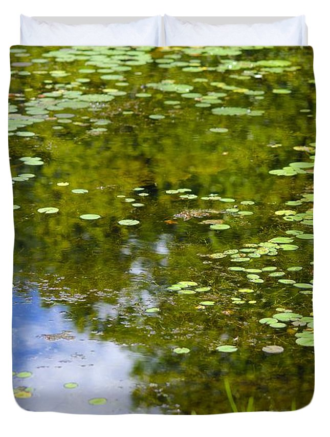 Lily Duvet Cover featuring the photograph Lily Pad Pond by Robert Skuja
