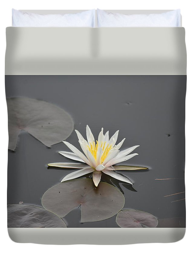 Lily Pad Duvet Cover featuring the photograph Lily Pad by Southernsweety