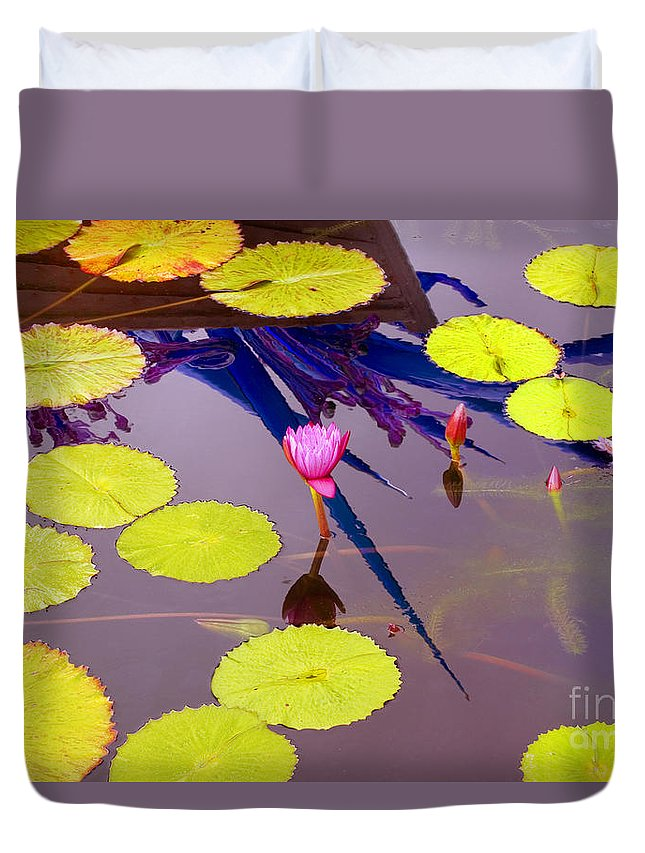 Lily Pad Duvet Cover featuring the photograph Lily Pads 2 by Madeline Ellis