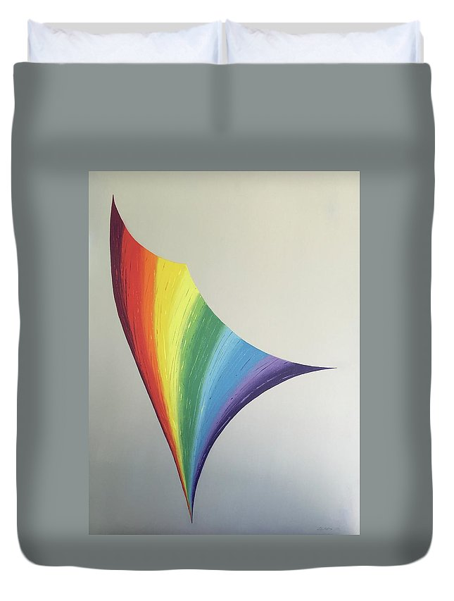 Color Duvet Cover featuring the painting Lily Prism #8 by Kenneth Claes