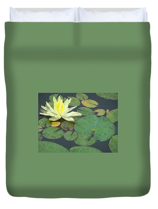 Lilypad Duvet Cover featuring the photograph Lilypad by Joan Gal-Peck