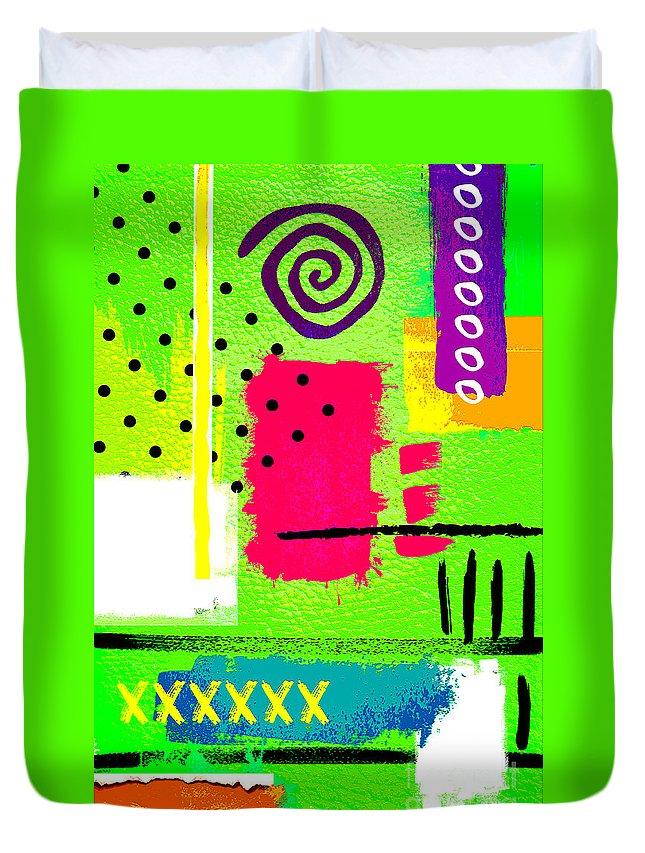 Lime Duvet Cover featuring the digital art Lime by Binka Kirova