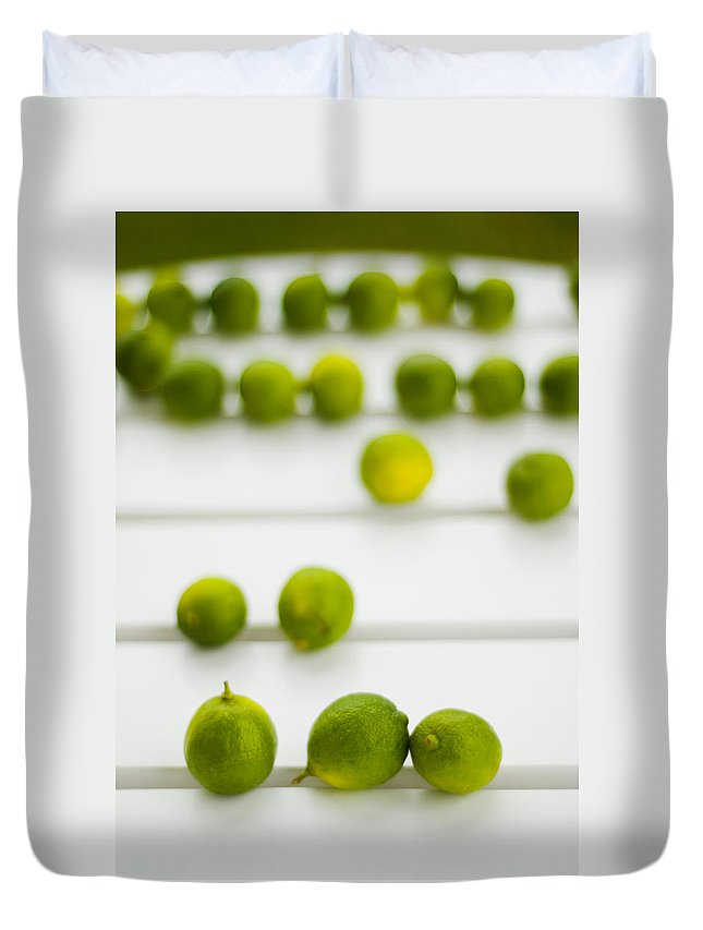 Green Duvet Cover featuring the photograph Lime Green by Skip Hunt