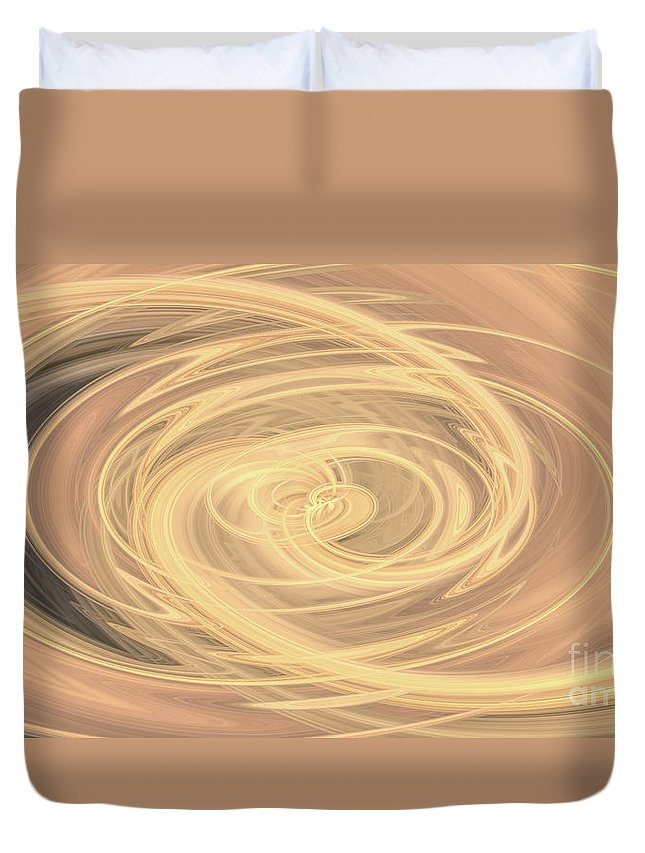 Lines Duvet Cover featuring the photograph Line Art In Gold And Yellow by Josephine Cleopahrt