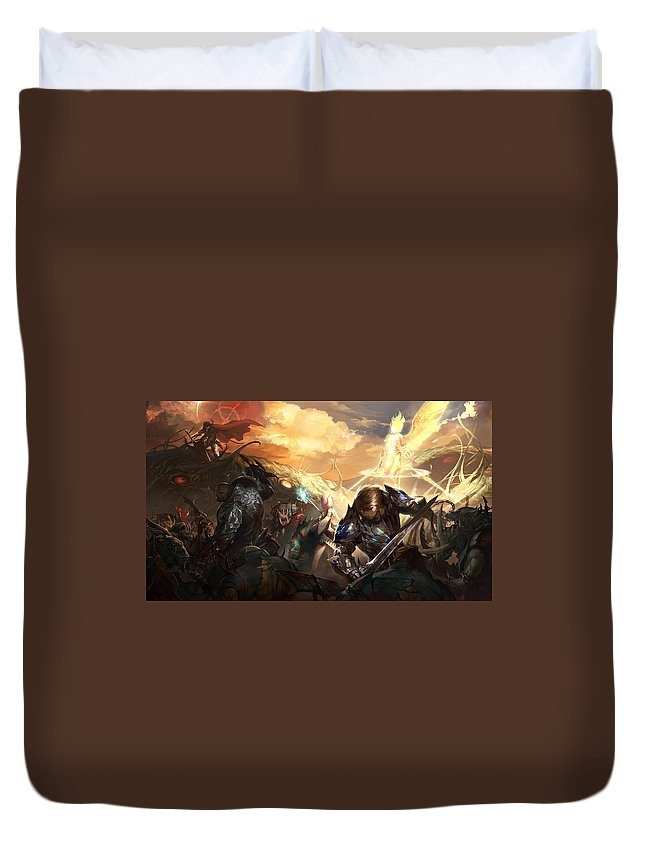 Lineage Ii Duvet Cover featuring the digital art Lineage II by Dorothy Binder