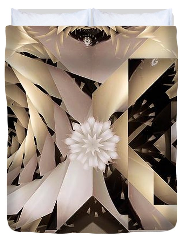 Abstract Duvet Cover featuring the digital art Linen and Silk by Ron Bissett