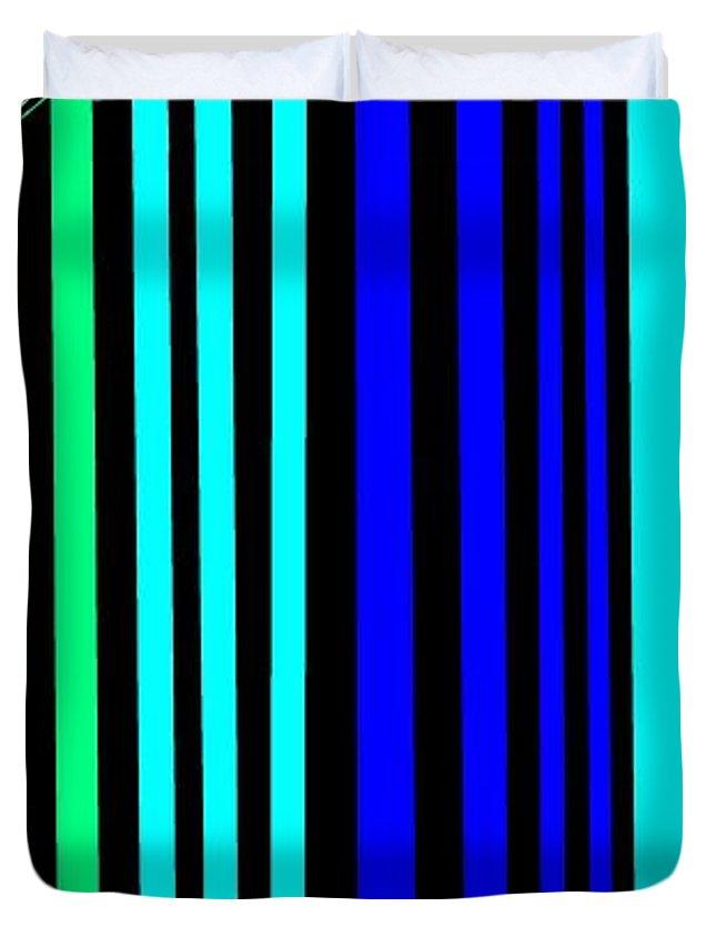 Lines 1 Duvet Cover for Sale by Linda Velasquez