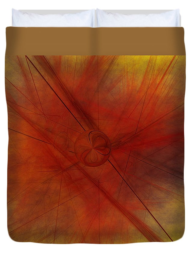 Art Duvet Cover featuring the digital art Lines Are Drawn by Jeff Iverson
