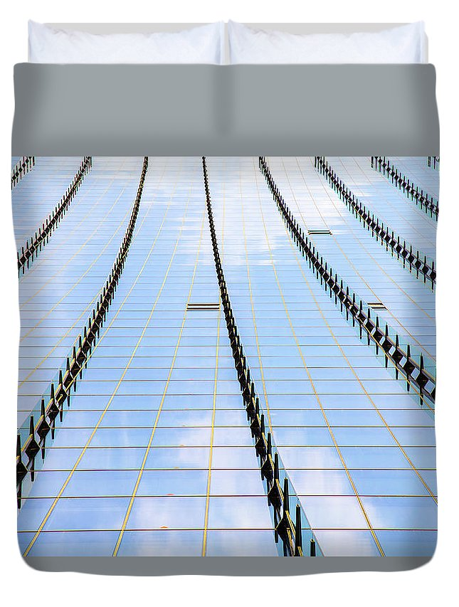 Architecture Duvet Cover featuring the photograph Linework by Robert Mcgillivray