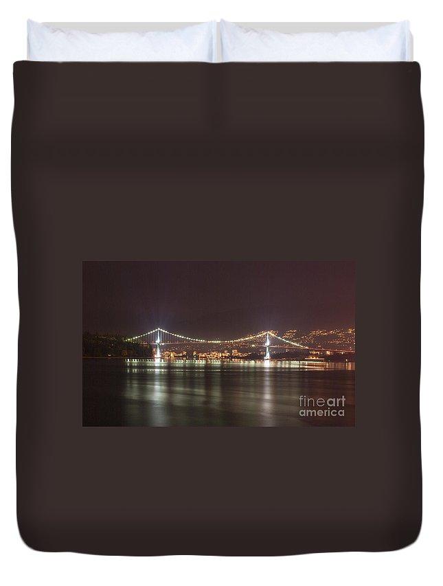 Lion Duvet Cover featuring the photograph Lions Gate Bridge 2 by Louise Magno