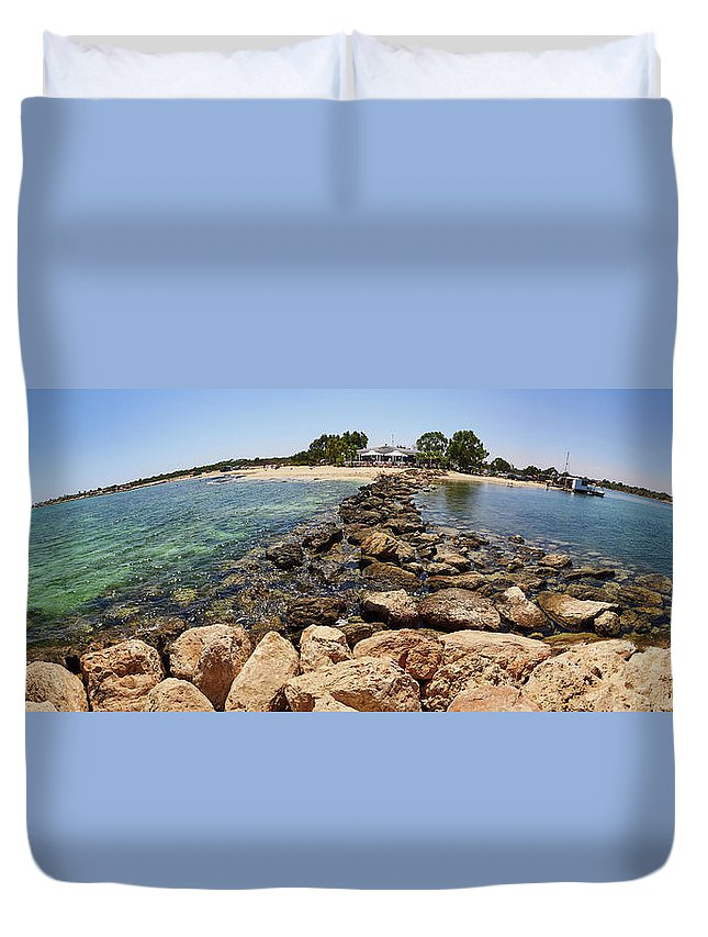 Finland Duvet Cover featuring the photograph Liopetri Beach Planet Slice by Jouko Lehto