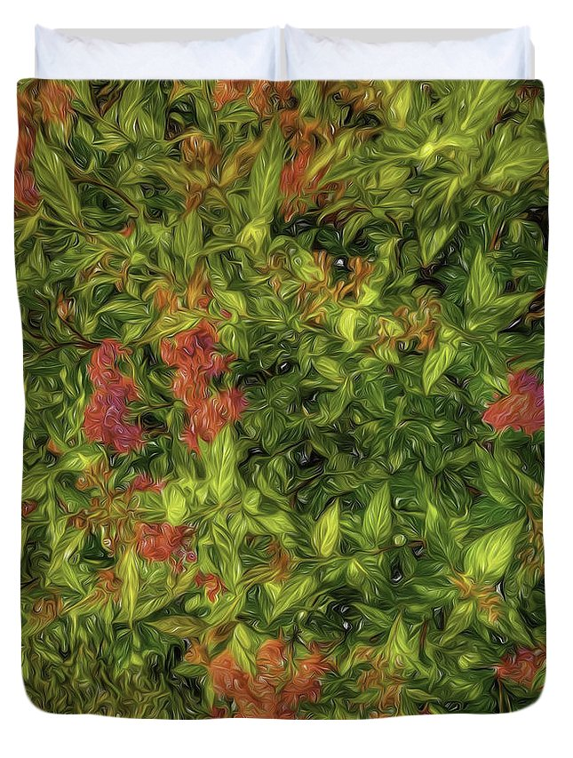 Floral Duvet Cover featuring the photograph Liquid Beauty by Nancy Marie Ricketts