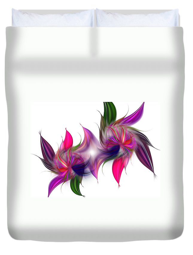 Abstract Duvet Cover featuring the digital art Liquidity Of Math by Georgiana Romanovna