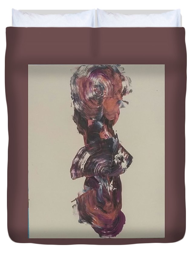 Abstract Duvet Cover featuring the painting Lisa by Cherae Espino