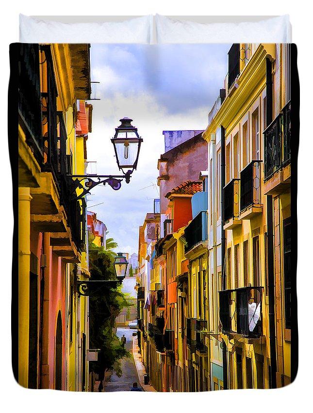 Portugal Lisbon Hills Duvet Cover featuring the photograph Lisbon Hills by Rick Bragan