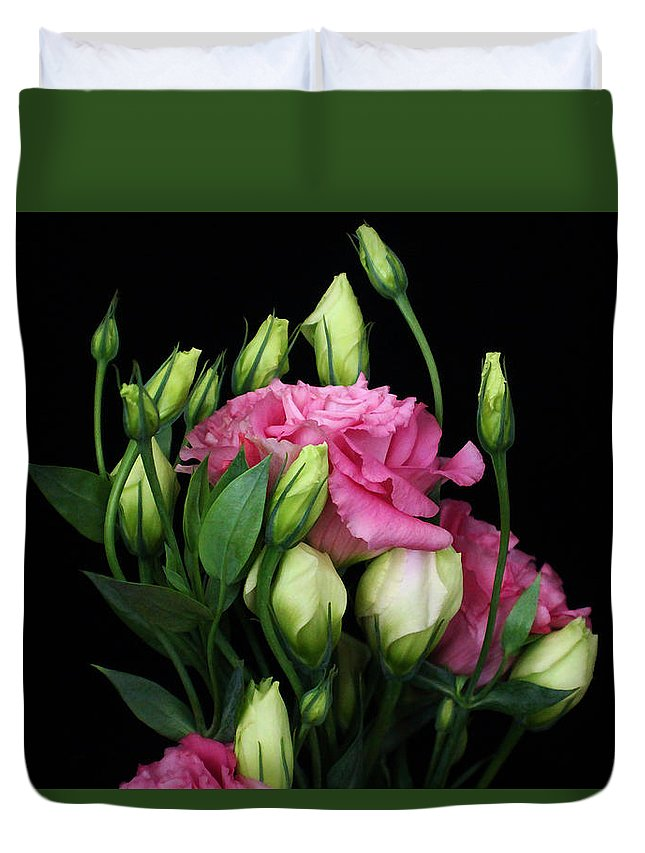 Lisianthus Duvet Cover featuring the photograph Lisianthus Flowers by Carol Welsh