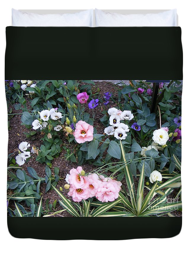 Photography Duvet Cover featuring the photograph Lisianthus Medley by Nancy Kane Chapman