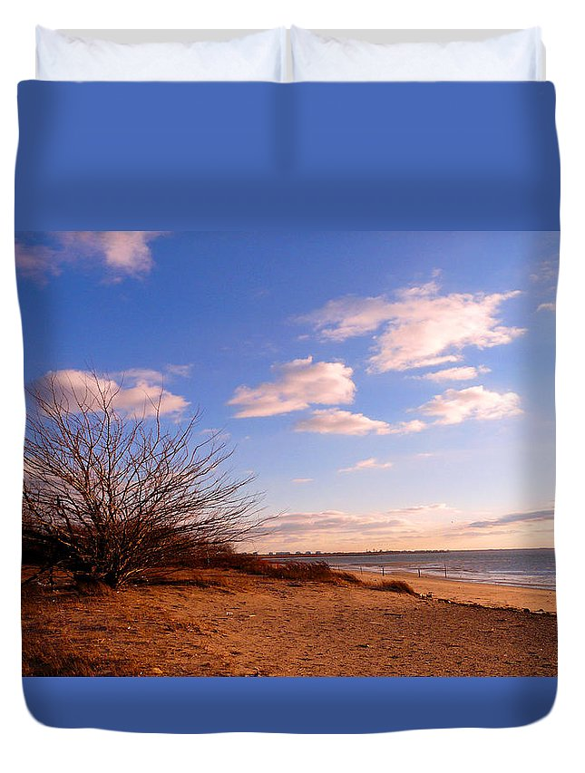 Landscape Duvet Cover featuring the photograph Listen To The Quiet by Kendall Eutemey