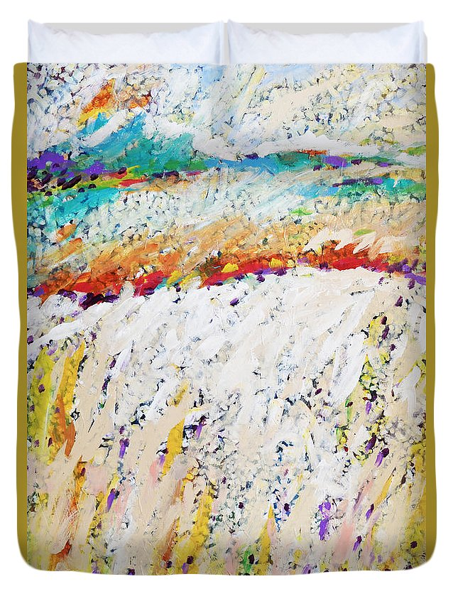 Charles Wallis Duvet Cover featuring the painting Listen To The Wind Speak Of Joy by Charles Wallis