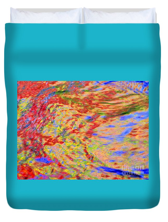 Abstract Duvet Cover featuring the photograph Listening To The Water by Sybil Staples