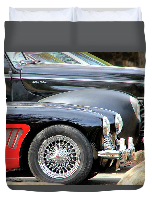 Restored Duvet Cover featuring the photograph Little And Big by Pauline Darrow
