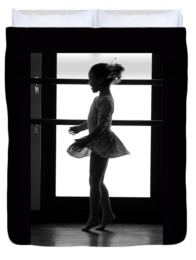 Girl Duvet Cover featuring the photograph Little Ballerina by Jill Reger