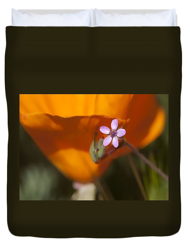 Wildflower Duvet Cover featuring the digital art Little Beauty by Sharon Foster