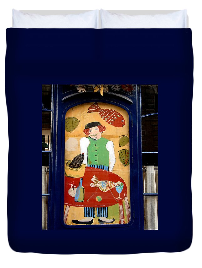 Color Photograph Duvet Cover featuring the photograph Little Chef by Dan Albright