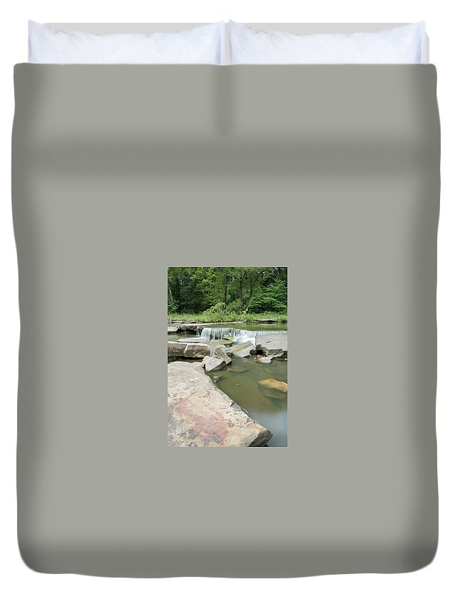 Water Duvet Cover featuring the photograph Water Fall by Charlie Krajacic