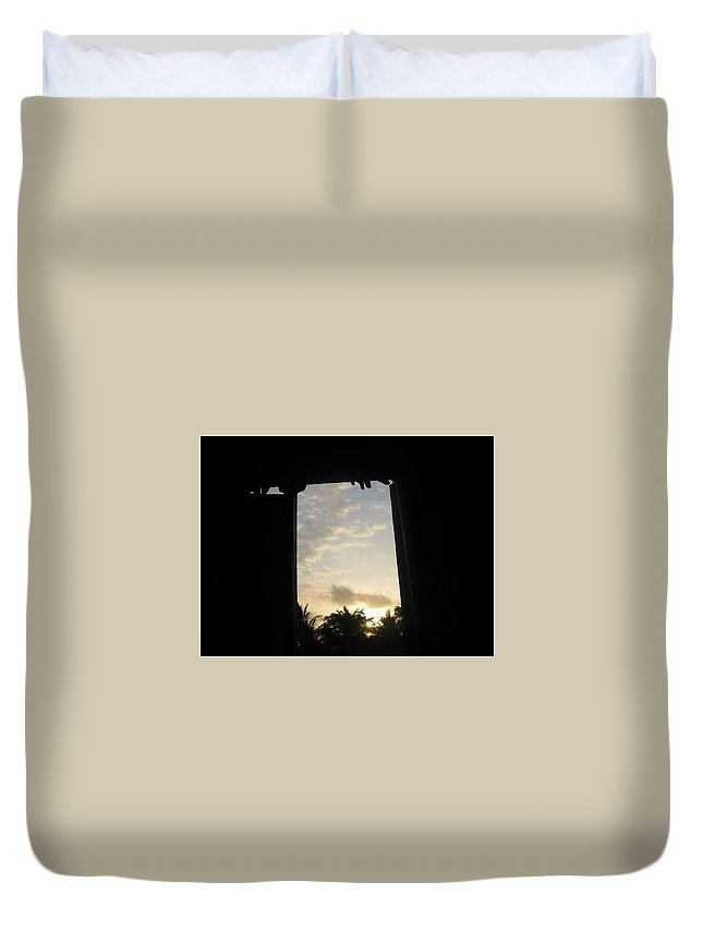 Artistry Duvet Cover featuring the photograph Little Girl Whom Dreams Out A Window by Becky Haines