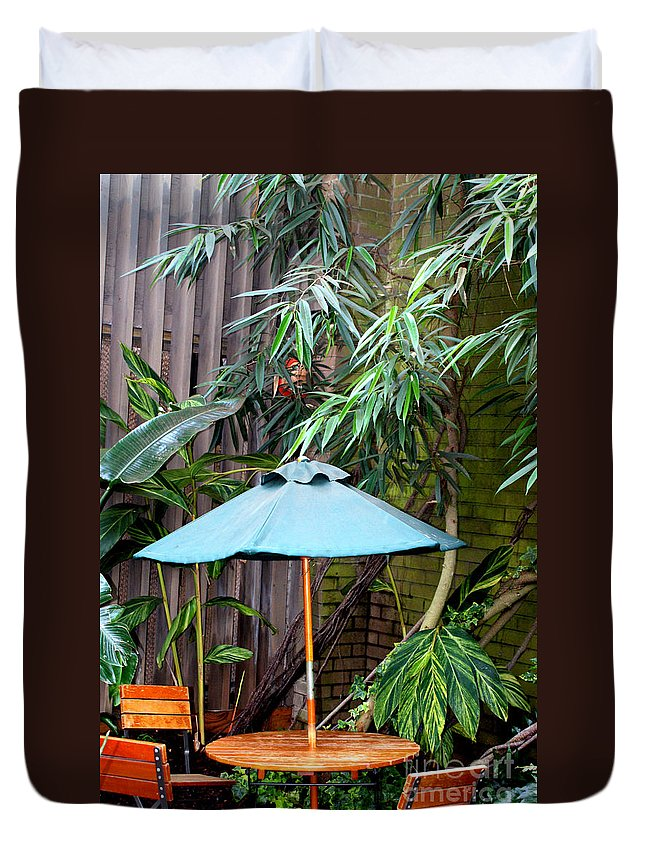 Photography Duvet Cover featuring the photograph Little Oasis by Shelley Jones