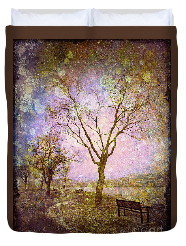 Texture Duvet Cover featuring the photograph Little Pathways by Tara Turner