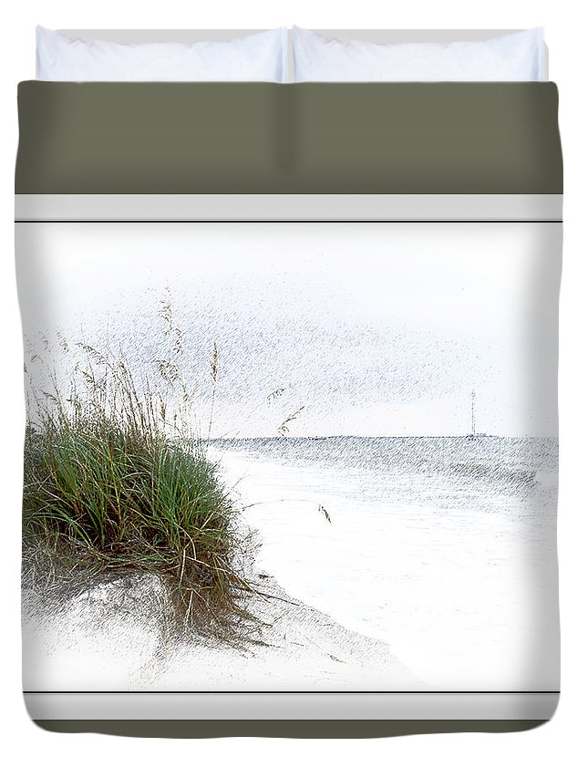 Florida Duvet Cover featuring the photograph Little Piece Of Florida by Robert Sargent