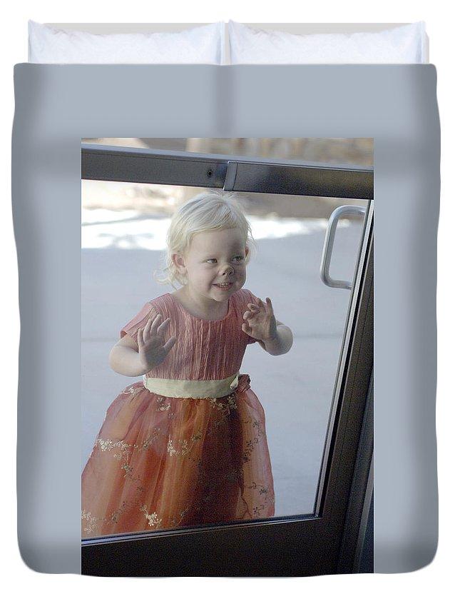 Funny Duvet Cover featuring the photograph Little Piggy by Jill Reger