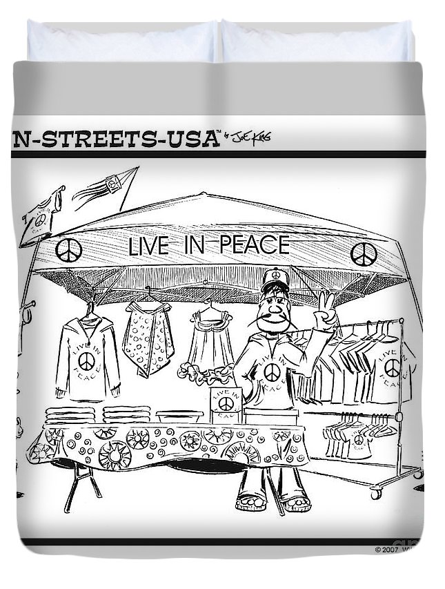 Business Duvet Cover featuring the digital art Live In Peace by Joe King