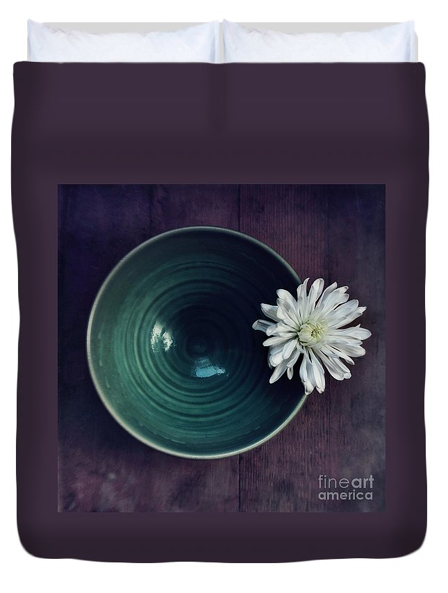 Simplicity Duvet Cover featuring the photograph Live Simply by Priska Wettstein