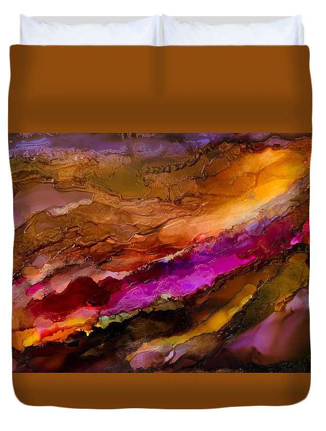 Abstract Duvet Cover featuring the painting Live Your Passion - C - by Sandy Sandy