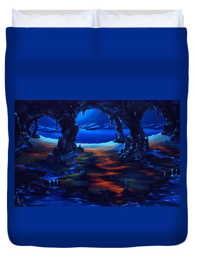 Textured Painting Duvet Cover featuring the painting Living Among Shadows by Jennifer McDuffie