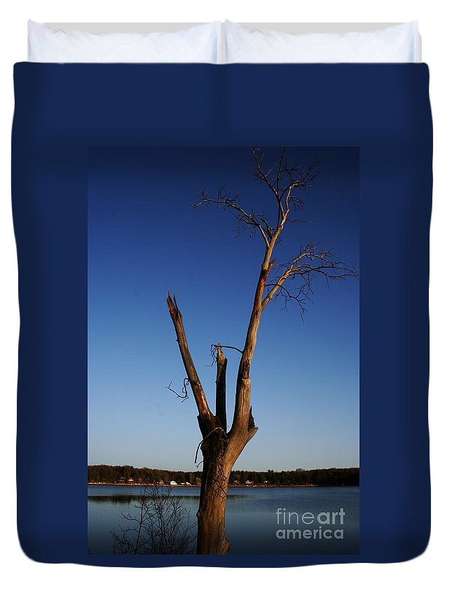 Duvet Cover featuring the photograph Living On by Jamie Lynn