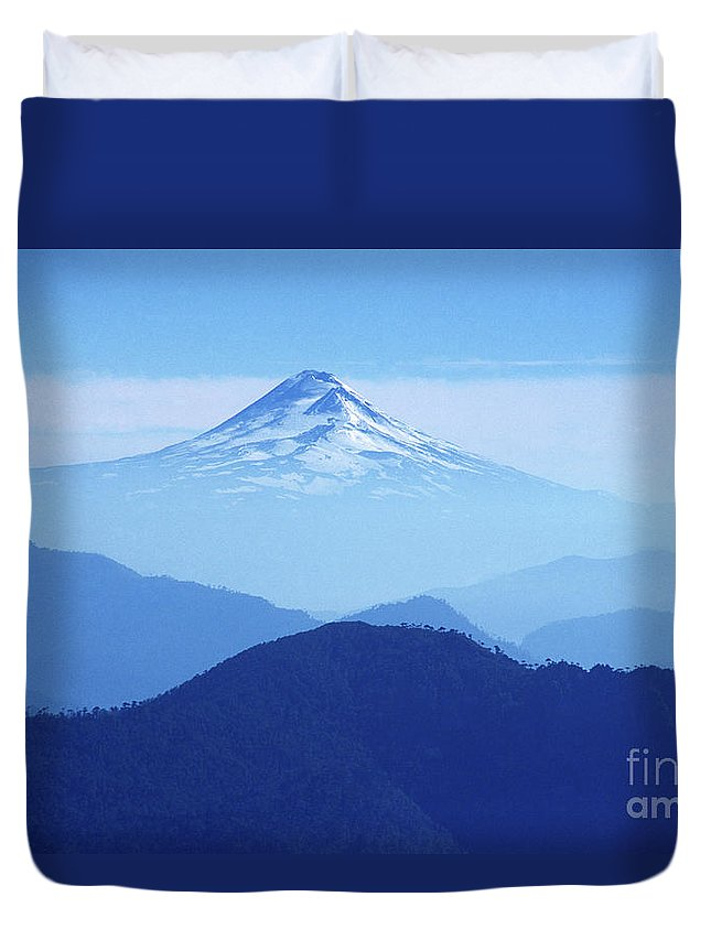 Chile Duvet Cover featuring the photograph Llaima Volcano Chile by James Brunker