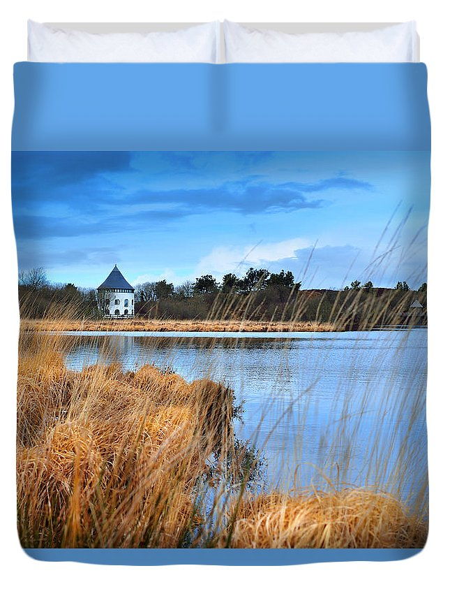 Countryside Duvet Cover featuring the photograph Llyn Llech Owain Country Park 1 by Phil Fitzsimmons