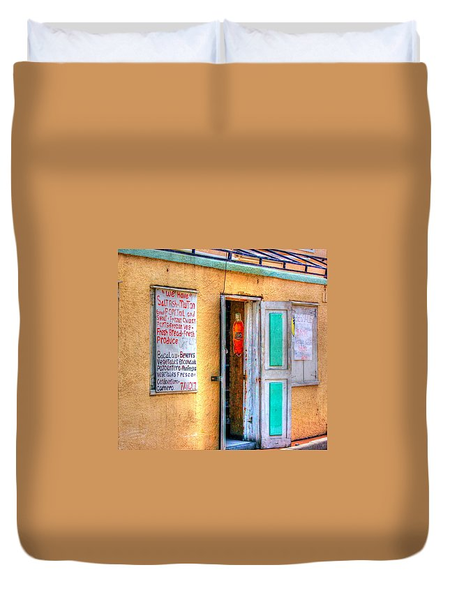 Store Duvet Cover featuring the photograph Local Store by Debbi Granruth