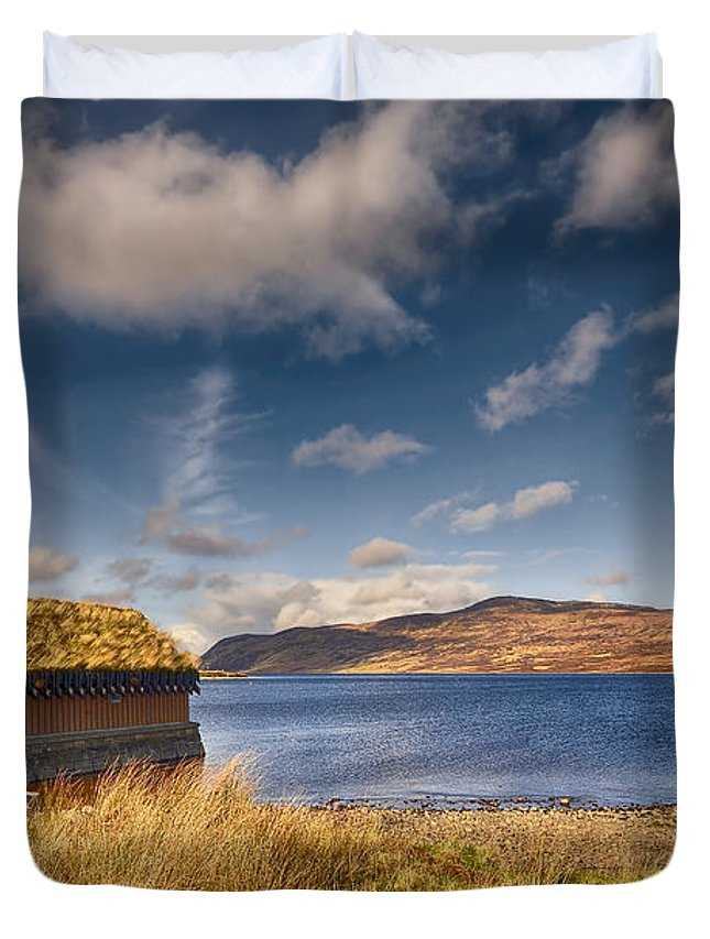 Loch Hope Duvet Cover featuring the photograph Loch Hope by Smart Aviation