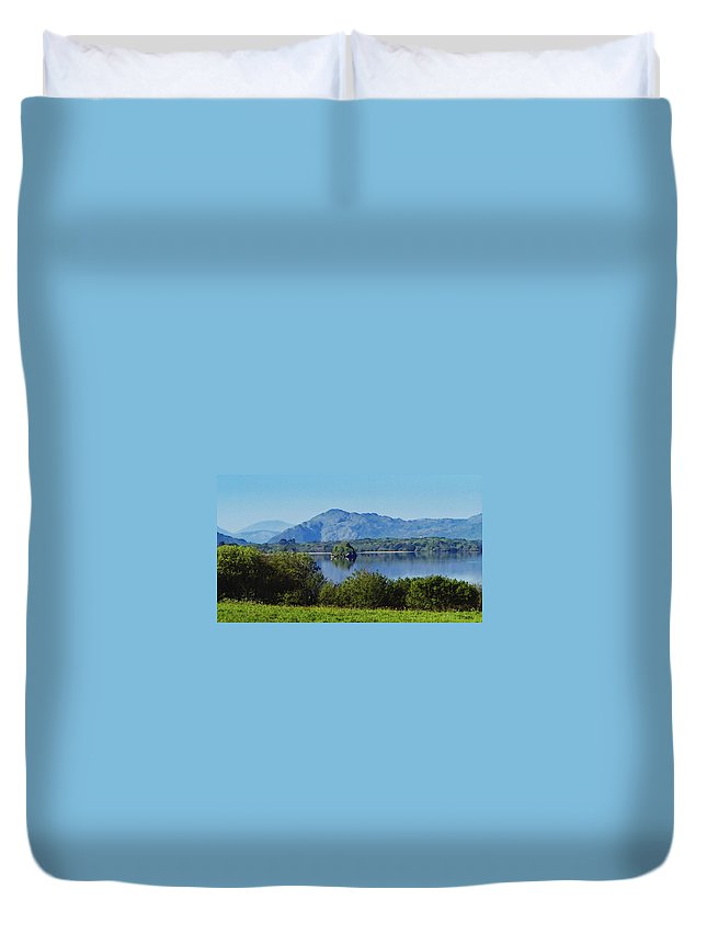 Irish Duvet Cover featuring the painting Loch Leanne Painting Killarney Ireland by Teresa Mucha