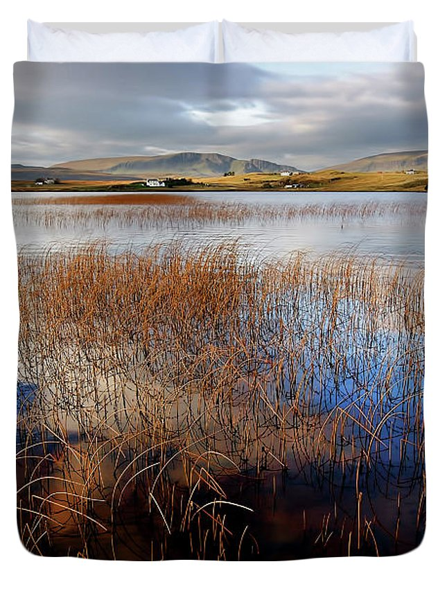 Loch Mealt Duvet Cover featuring the photograph Loch Mealt by Smart Aviation