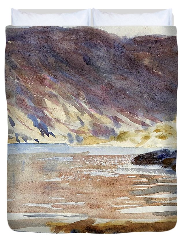 John Singer Sargent Duvet Cover featuring the drawing Loch Moidart by John Singer Sargent