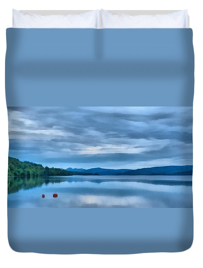 Loch Rannoch Duvet Cover featuring the photograph Loch Rannoch by Chris Thaxter