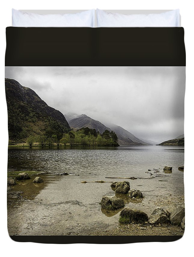 Loch Duvet Cover featuring the photograph Loch Shiel by Fran Gallogly
